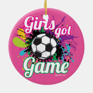 GIRLS GOT GAME SOCCER ORNAMENT