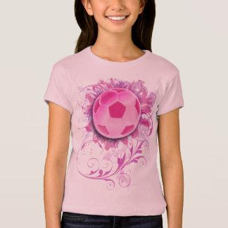 Girl's Grunge Floral Soccer Childrens Shirt