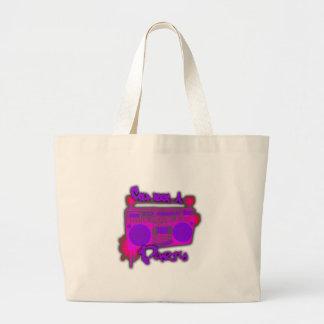 Girls guys old school 80s rap t shirt hat sticker jumbo tote bag