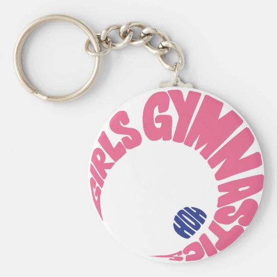 Girls Gymnastics Keychain