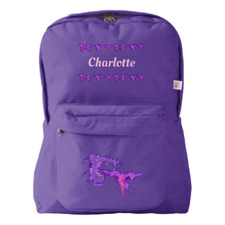 Girls Gymnastics Tumbling Personalized Name Backpack