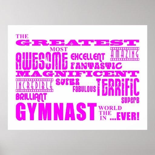 Girls Gymnasts : Pink Greatest Gymnast Posters