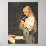 Girls' hair braiding  1887 poster