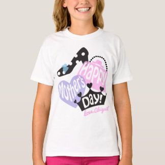 Girls Happy Mothers Day TShirt Gift from Daughter