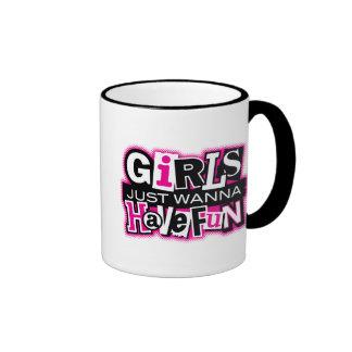 Girls Have Fun Ringer Coffee Mug