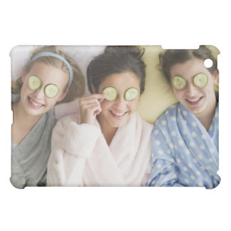 Girls having a facial cover for the iPad mini
