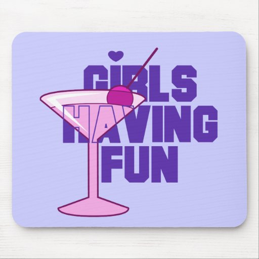 Girls Having Fun Bachelorette Tshirts and Gifts Mouse Pad