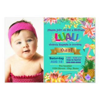Girls Hawaiian Luau Birthday Party 11 Cm X 16 Cm Invitation Card