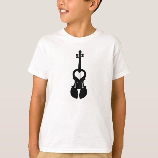 Girls Heart Violin Player T-Shirt