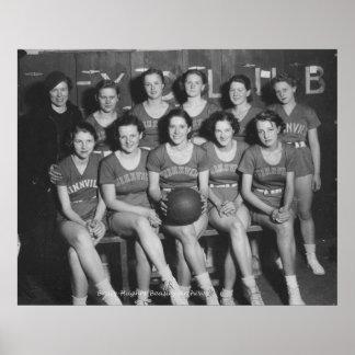 Girls High School Basketball Team Print