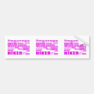Girls Hikers : Pink Greatest Hiker Bumper Sticker