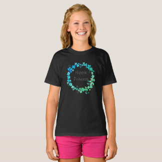 Girls Hippie Princess dark print T-Shirt