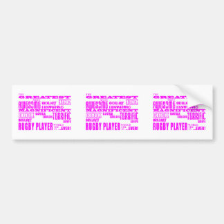 Girls Hockey : Pink Greatest Rugby Player Bumper Stickers