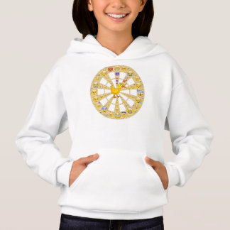 Girl's Hoodie with Happy Quack Smiley Wheel