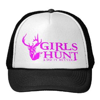 GIRLS HUNT DEER TRUCKER HATS