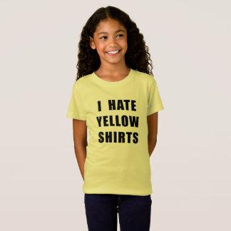"Girl's ""I Hate Yellow Shirts"" yellow shirt"
