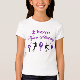 GIRLS - i love figure skating - purple/black T-Shirt