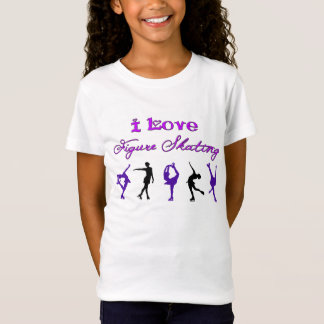 GIRLS - i love figure skating - purple/black T-Shirt