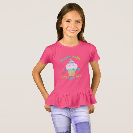 Girls Ice Cream Cone Ruffle T-shirt