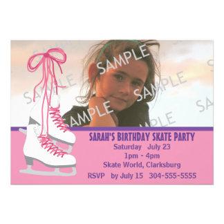 Girl's Ice Skating Party Invites