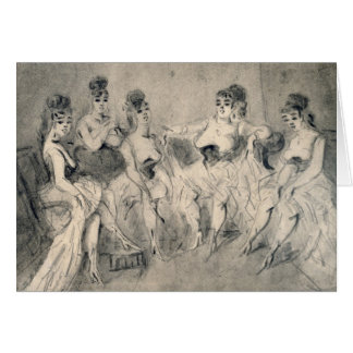 Girls in a Bordello Card