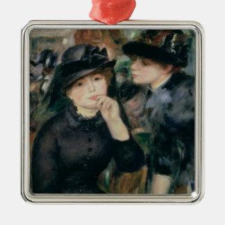 Girls in Black, 1881-82 Silver-Colored Square Decoration