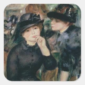 Girls in Black, 1881-82 Square Sticker