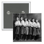 Girls in Bloomers, early 1900s 15 Cm Square Badge