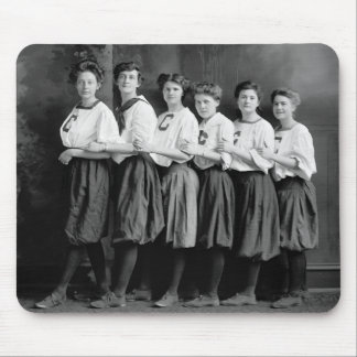 Girls in Bloomers, early 1900s Mouse Mat