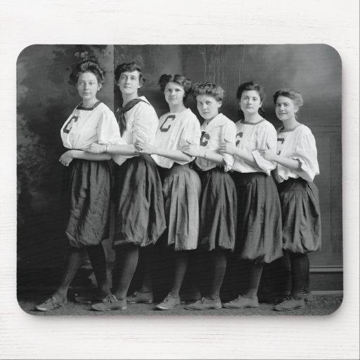 Girls in Bloomers, early 1900s Mousepads