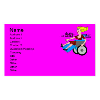 Girls in Heels need Wheelchairs Double-Sided Standard Business Cards (Pack Of 100)