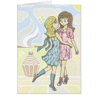Girls in Pastel Card