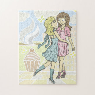 Girls in Pastel Jigsaw Puzzle