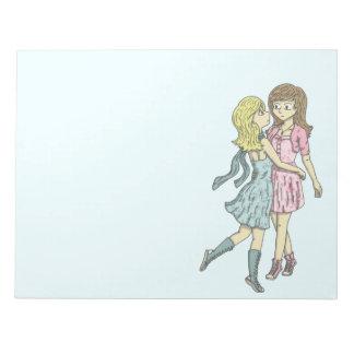 Girls in Pastel Notepad