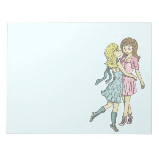 Girls in Pastel Notepads