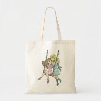 Girls in the Garden Budget Tote Bag