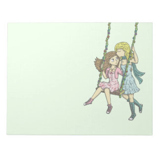 Girls in the Garden Notepad