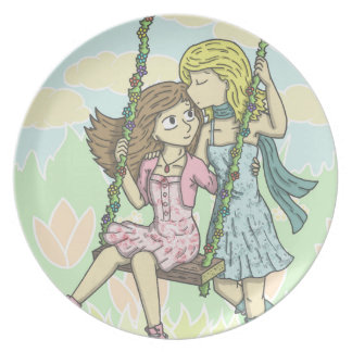 Girls in the Garden Plate