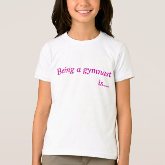 Girls inspirational gymnastic tee