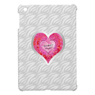 "Girl's Jeweled ""Sweet Angel? Heart"" iPad Mini Covers"