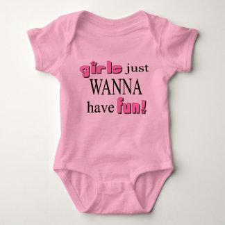 Girls Just Wanna Have Fun Baby Bodysuit
