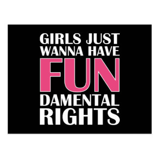 Girls Just Wanna Have Fun Postcard