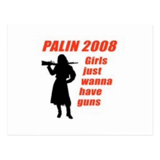 Girls just wanna have guns post cards