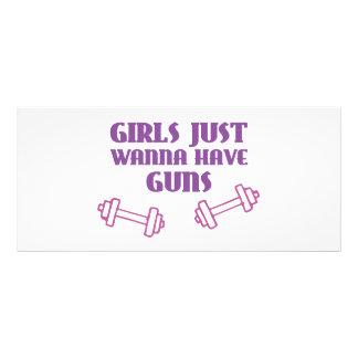 Girls Just Wanna Have Guns Rack Card Template