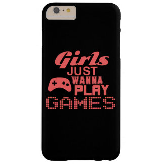 Girls Just Wanna Play Games (pink) Barely There iPhone 6 Plus Case
