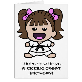 Girl's Karate Birthday Card