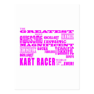 Girls Kart Racers Pink Greatest Kart Racer Postcards