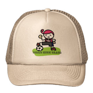 Girls Kick Grass Cap