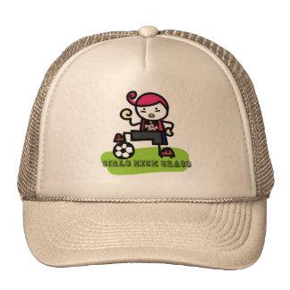 Girls Kick Grass Trucker Hat