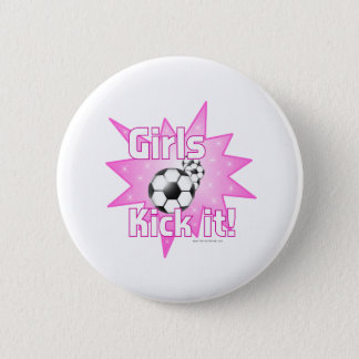Girls Kick it 6 Cm Round Badge